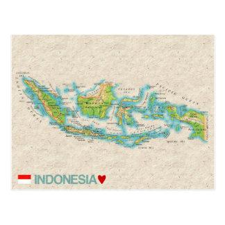 KARTEN-POSTKARTEN ♥ Indonesien Postkarte