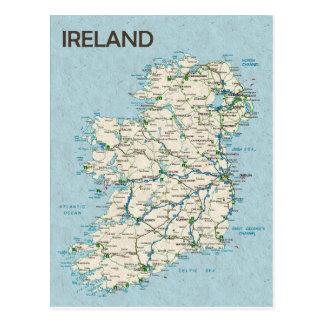 KARTEN-POSTKARTEN ♥ Irland Postkarte