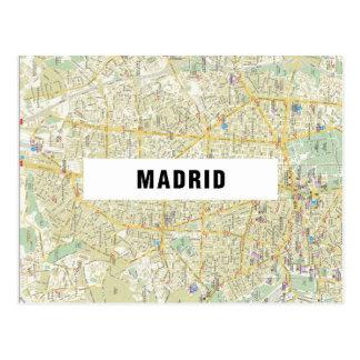 KARTEN-POSTKARTEN ♥ Madrid Postkarte