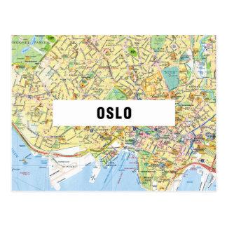 KARTEN-POSTKARTEN ♥ Oslo Postkarte