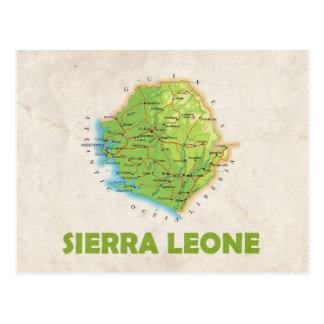 KARTEN-POSTKARTEN ♥ Sierra Leone Postkarte