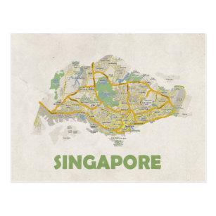 KARTEN-POSTKARTEN ♥ Singapur Postkarte