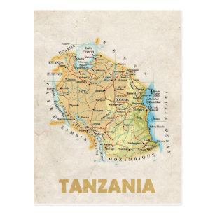KARTEN-POSTKARTEN ♥ Tansania Postkarte