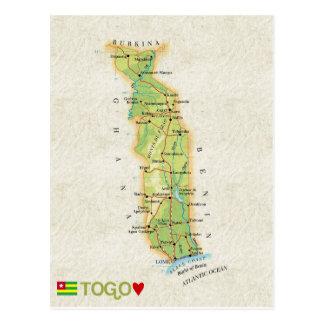 KARTEN-POSTKARTEN ♥ Togo Postkarte