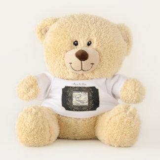 Karten-Save the Date punktiert elegante Goldfolie Teddybär
