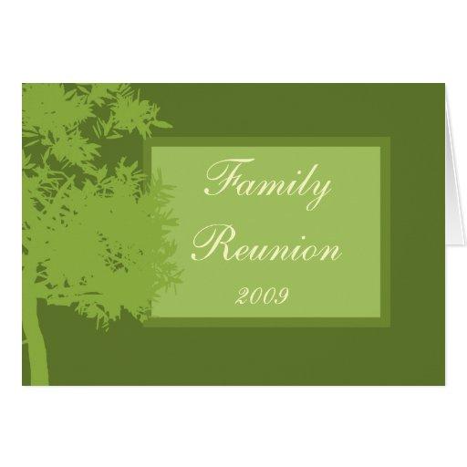 Karten-Schablone - Familien-Wiedersehen