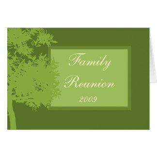 Karten-Schablone - Familien-Wiedersehen Grußkarte