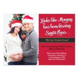 Karten-Schwangerschafts-Foto des WeihnachtenA6 - 11,4 X 15,9 Cm Einladungskarte