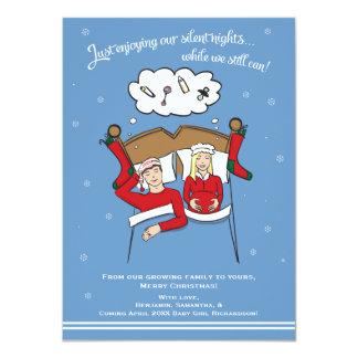 Karten-Schwangerschafts-Mitteilung des 11,4 X 15,9 Cm Einladungskarte