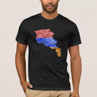Karten-T - Shirt Armeniens Flagcolor
