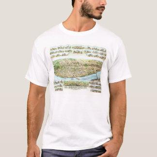 Karten-T-Shirt Bradfords Massachusetts T-Shirt