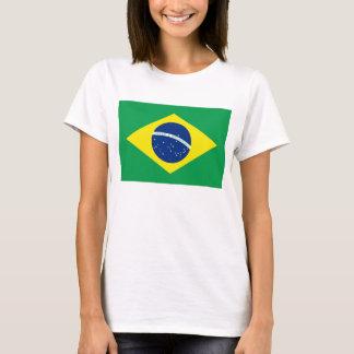 Karten-T - Shirt Brasilien-Flaggen-x