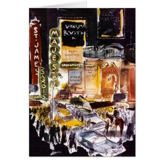 Karten-Theater-Bezirk New York City NYC Broadway Mitteilungskarte