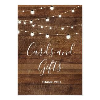 Karten und Geschenke, die Bar-Zeichen Wedding sind Karte