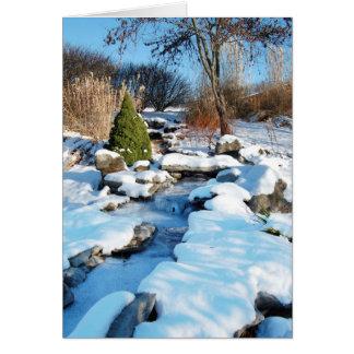 Karten - Weihnachten: Reizende Schneeszene