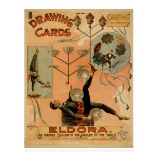 """Karten zeichnen, """"Eldora"""", Jongleur der Welt Postkarten"""