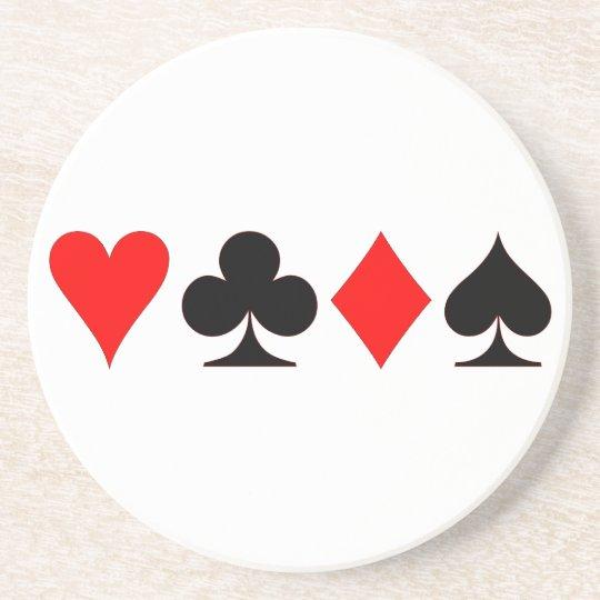 Kartenfarben card suits sandstein untersetzer
