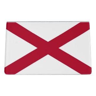 Kartenhalter mit Flagge von Alabama-Staat, USA Schreibtisch-Visitenkartenhalter