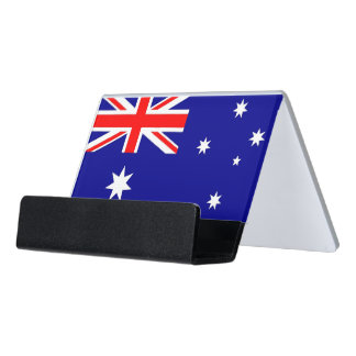 Kartenhalter mit Flagge von Australien Schreibtisch-Visitenkartenhalter