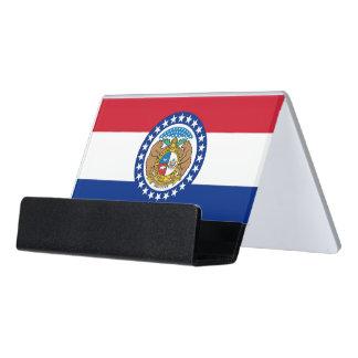Kartenhalter mit Flagge von Missouri-Staat, USA Schreibtisch-Visitenkartenhalter