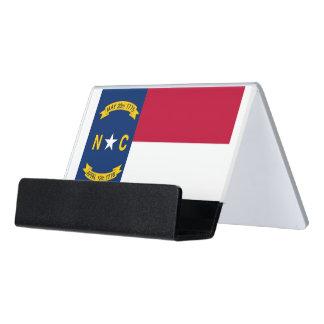 Kartenhalter mit Flagge von Nord-CarolinaStaat, Schreibtisch-Visitenkartenhalter