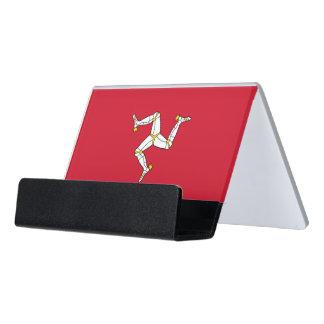 Kartenhalter mit Isle of Man-Flagge, Schreibtisch-Visitenkartenhalter