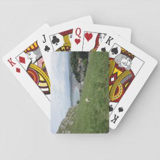 Kartenspiel mit Llandudno (Wales) Bild Spielkarten