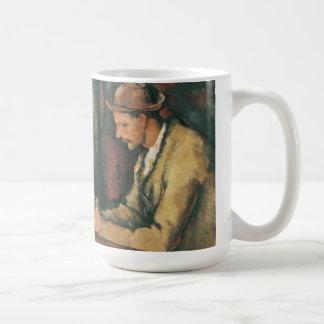 Kartenspieler durch Paul Cezanne, Vintage feine Kaffeetasse