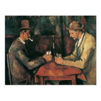 Kartenspieler durch Paul Cezanne, Vintage feine Postkarte