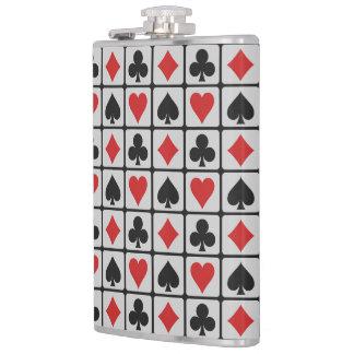 Kartenspieler-Gewohnheitsflaschen Flachmann
