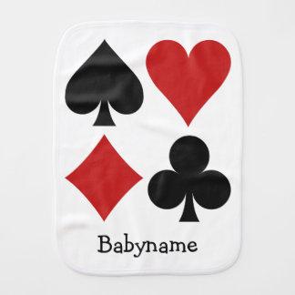 Kartenspieler kundenspezifischer Burpstoff Baby Spucktuch