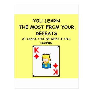 Kartenspielerwitz Postkarte