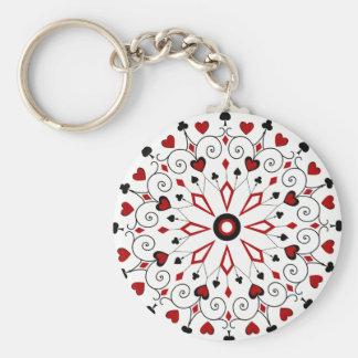 Kartenstapeles Karten-Anzüge Schlüsselanhänger