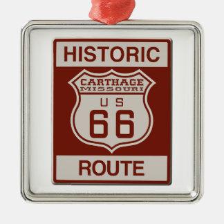 Karthago-Weg 66 Silbernes Ornament