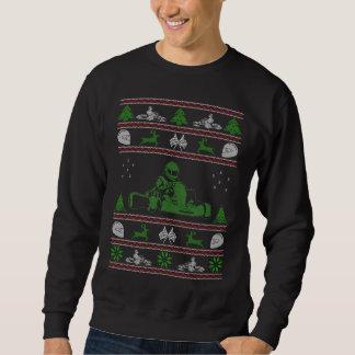 Karting Weihnachtshässliche Strickjacke Sweatshirt