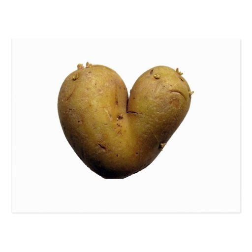 Kartoffel-Liebe Postkarte