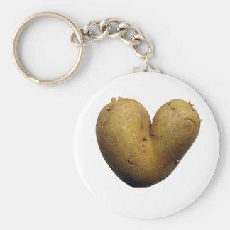 Kartoffel-Liebe Standard Runder Schlüsselanhänger