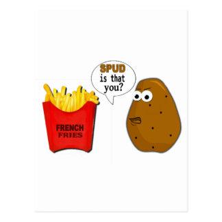 Kartoffel-Pommes-Frites sind dass Sie? lustig Postkarte