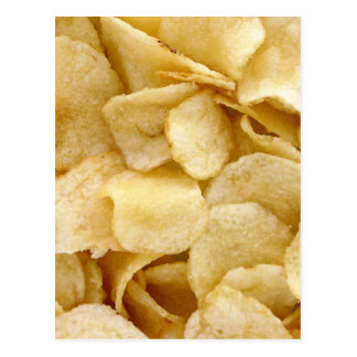 Kartoffelchip-Fertigkostgeschenke Postkarte