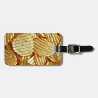 Kartoffelchip-Snack-Food Gepäckanhänger