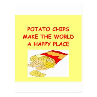 Kartoffelchips Postkarte