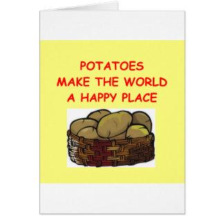 Kartoffelkartoffeln Karte