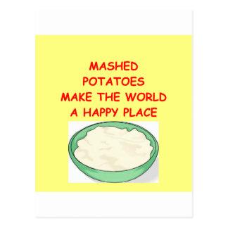 Kartoffelpürees Postkarte