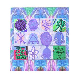 KARUNA Reiki Symbole: Künstlerische Wiedergabe Notizblock