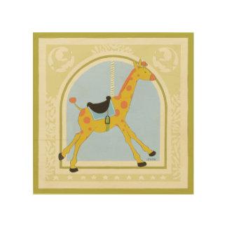 Karussell-Giraffe bis Juni Heidekraut Vess Holzleinwand