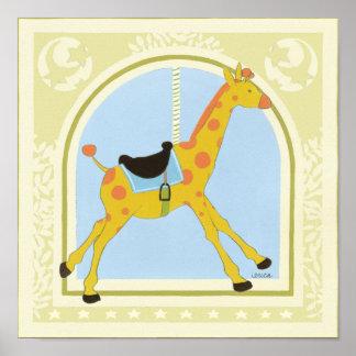 Karussell-Giraffe bis Juni Heidekraut Vess Poster