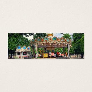 Karussell im Tuileries, Paris, Frankreich Mini Visitenkarte