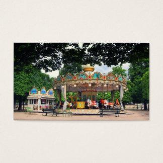 Karussell im Tuileries, Paris, Frankreich Visitenkarte