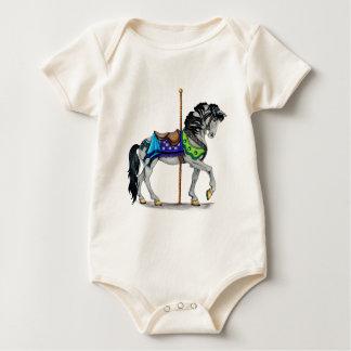 Karussell-Pferd Baby Strampler