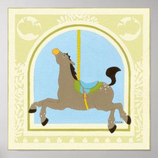 Karussell-Pferd bis Juni Heidekraut Vess Poster